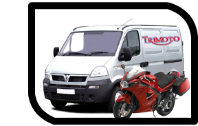 Trimoto-motorcycle collection and delivery van